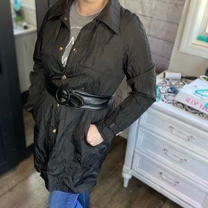 Laundry by shelli segal black Trench coat XL